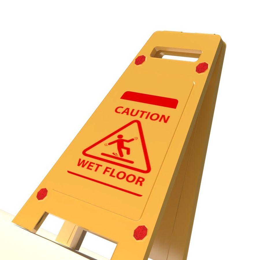 Cuidado piso molhado royalty-free 3d model - Preview no. 1