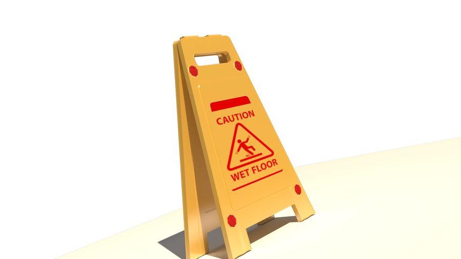 Cuidado piso molhado royalty-free 3d model - Preview no. 6