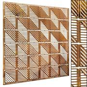 Decorative partition set 58 3d model