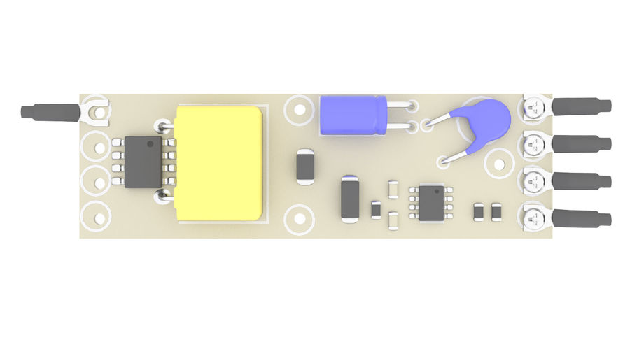 Electronics Board 3 royalty-free 3d model - Preview no. 4