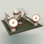 Düşük Poli Radar İstasyonu 3d model