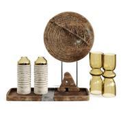 木制套装Maisons启发 3d model