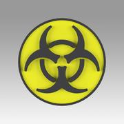 Biohazard symbool tekenen 3d model