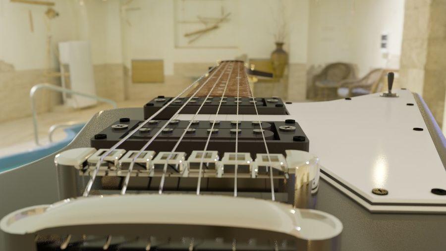 Explorer guitar Classic Black royalty-free 3d model - Preview no. 5