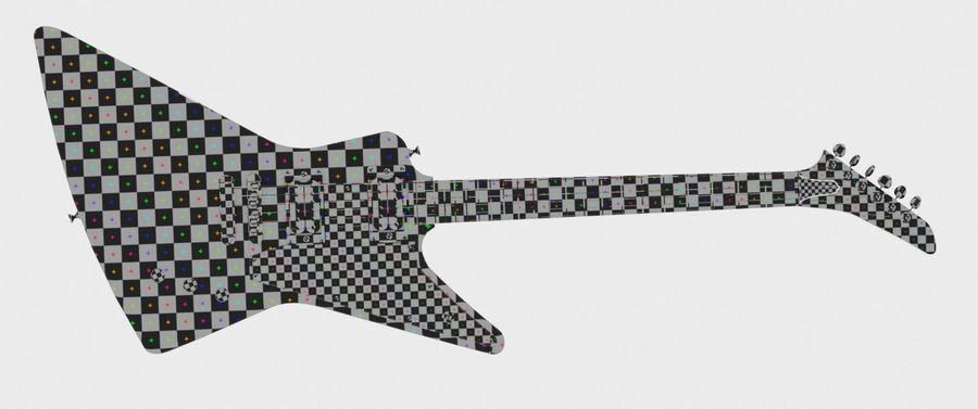 Explorer guitar Classic Black royalty-free 3d model - Preview no. 7
