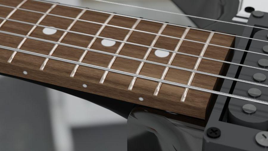 Explorer guitar Classic Black royalty-free 3d model - Preview no. 4
