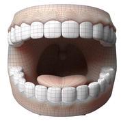 Dentes dos desenhos animados 3d model