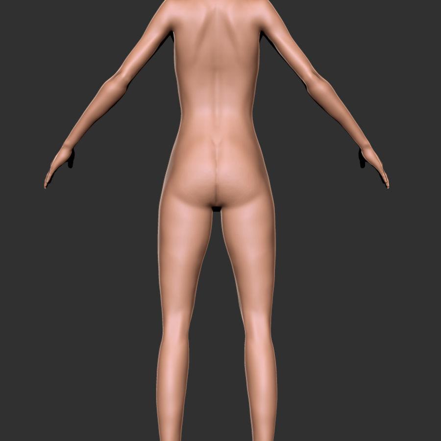 Kadın Vücut Tabanı royalty-free 3d model - Preview no. 3