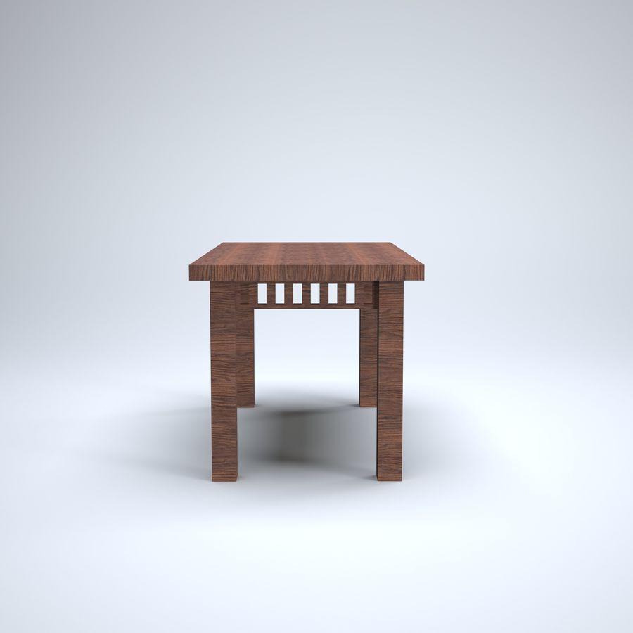 现代木桌 royalty-free 3d model - Preview no. 2