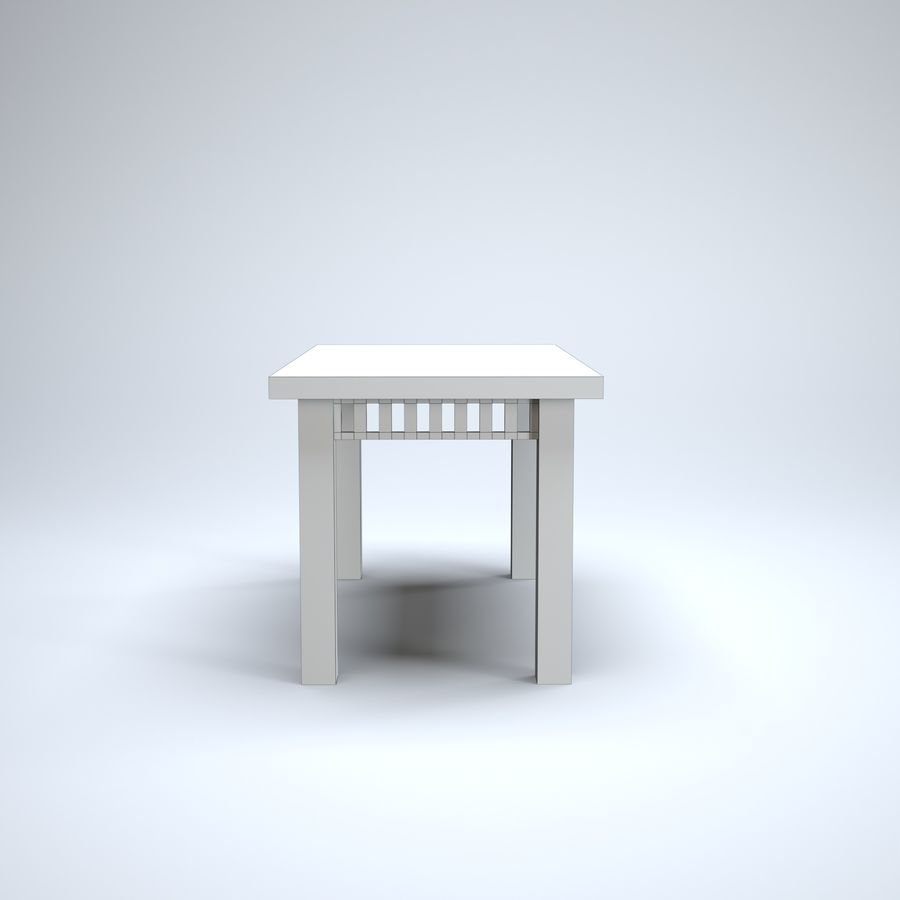 现代木桌 royalty-free 3d model - Preview no. 8