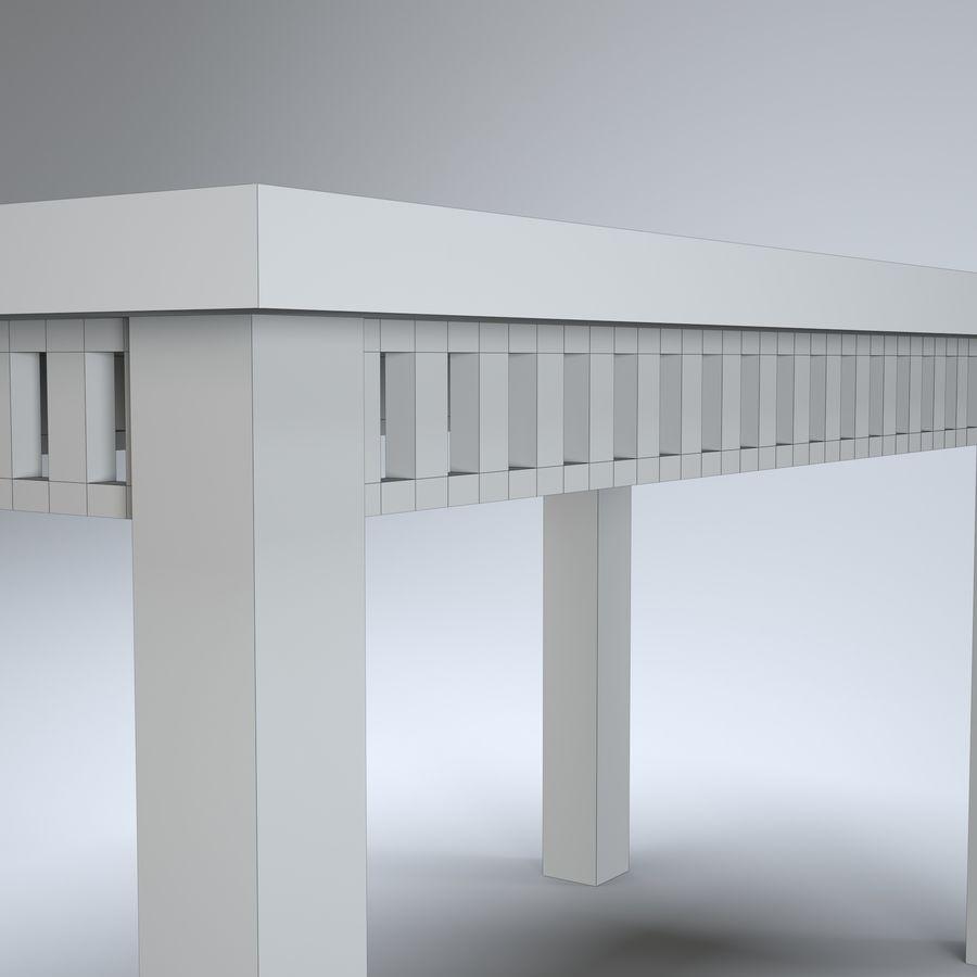 现代木桌 royalty-free 3d model - Preview no. 11
