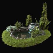 Alpin kulle 3d model