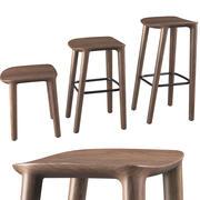 Drewniane siedzisko barowe Neva firmy Artisan 3d model