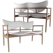 48 Sofa bench Finn Juhl tarafından 3d model