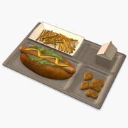 Hotdog Mahlzeit 3d model