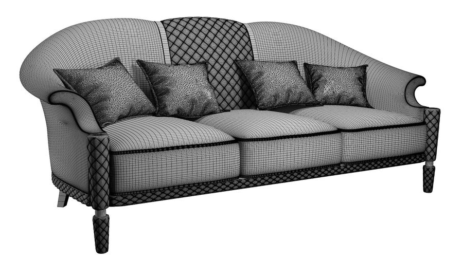 3D Couch/Sofa royalty-free 3d model - Preview no. 10
