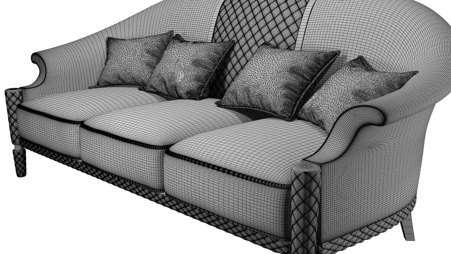 3D Couch/Sofa royalty-free 3d model - Preview no. 9