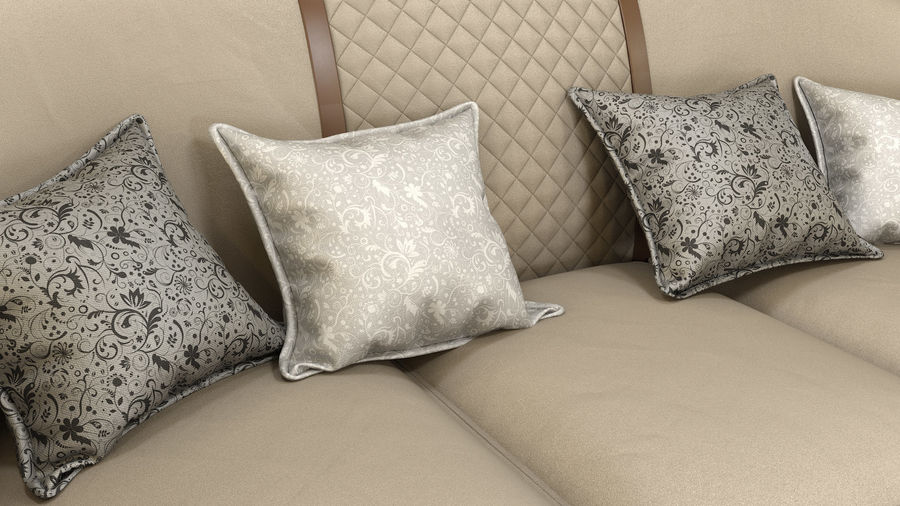 3D Couch/Sofa royalty-free 3d model - Preview no. 6