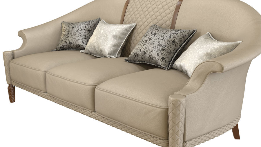 3D Couch/Sofa royalty-free 3d model - Preview no. 3