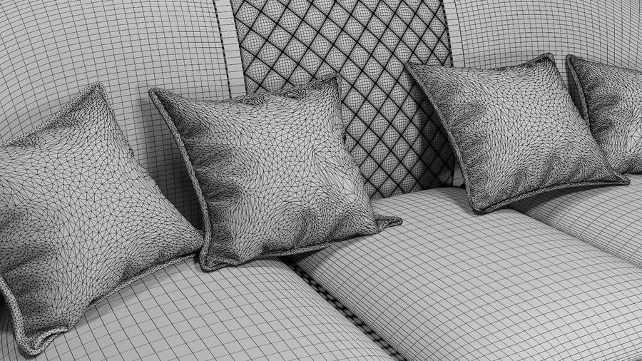 3D Couch/Sofa royalty-free 3d model - Preview no. 7