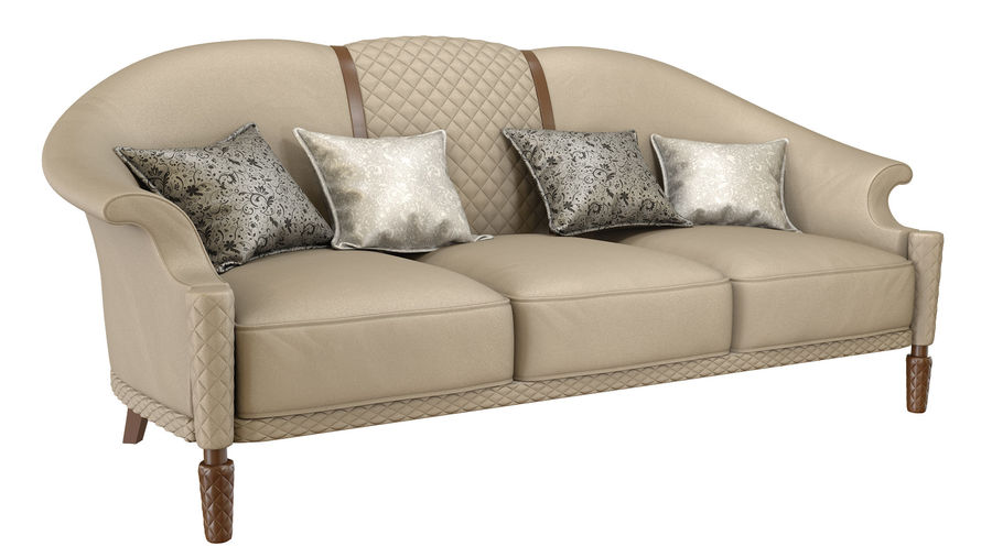 3D Couch/Sofa royalty-free 3d model - Preview no. 1