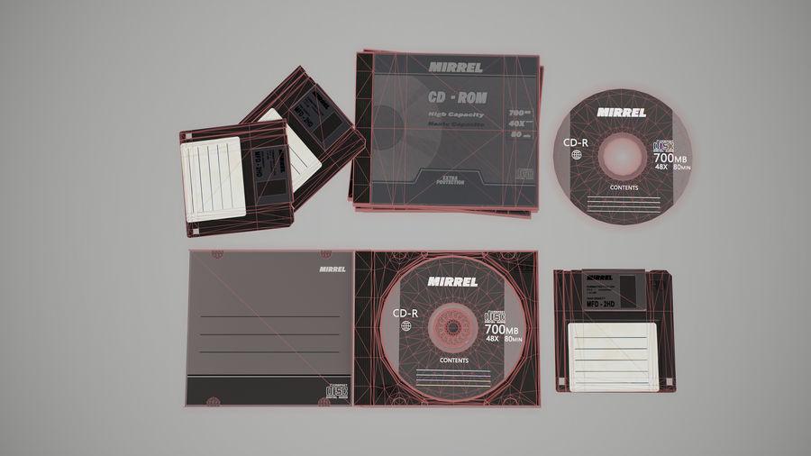 CD 및 플로피 디스크 royalty-free 3d model - Preview no. 4