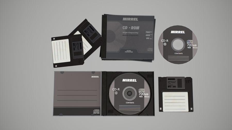 CD 및 플로피 디스크 royalty-free 3d model - Preview no. 3