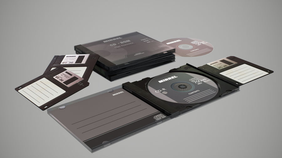 CD 및 플로피 디스크 royalty-free 3d model - Preview no. 7