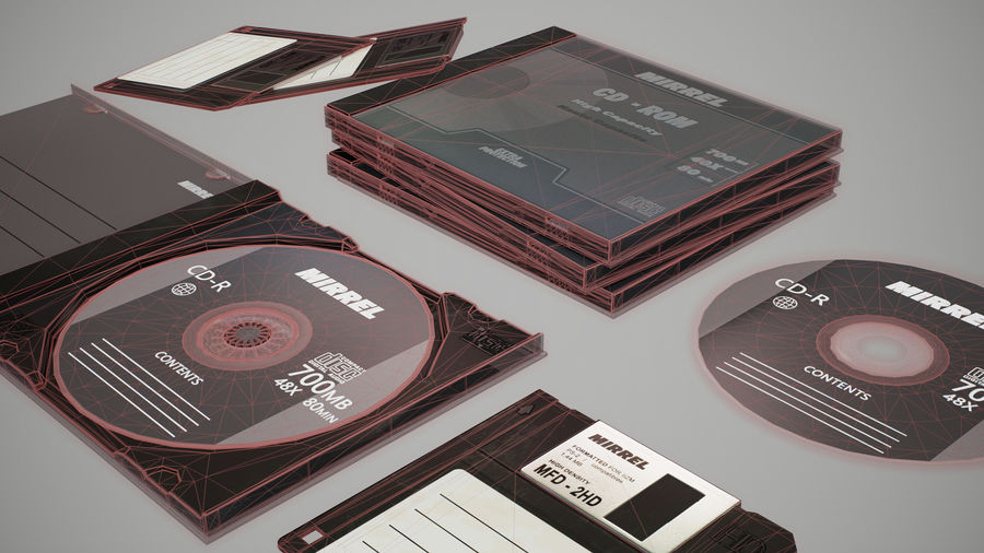 CD 및 플로피 디스크 royalty-free 3d model - Preview no. 2