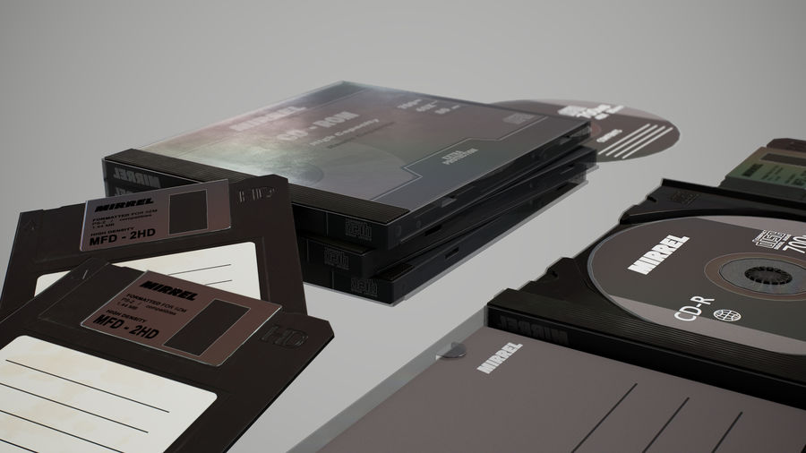 CD 및 플로피 디스크 royalty-free 3d model - Preview no. 5
