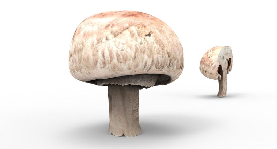 Champignon royalty-free 3d model - Preview no. 2