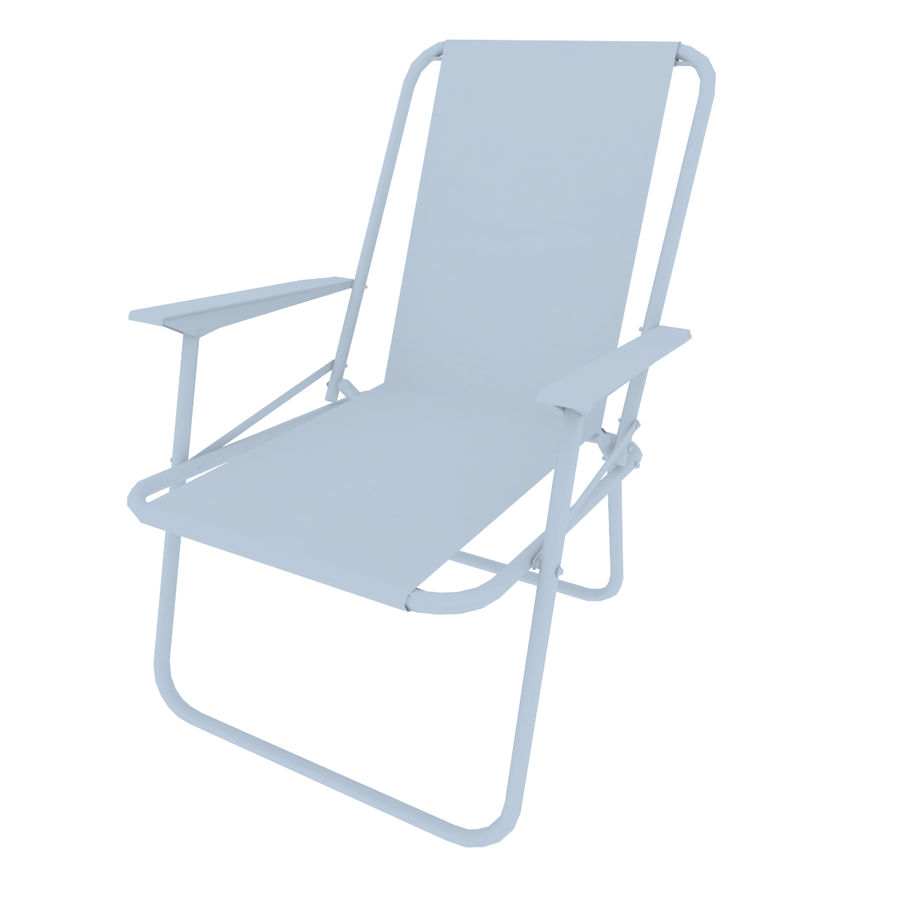 Camp Chair royalty-free 3d model - Preview no. 7