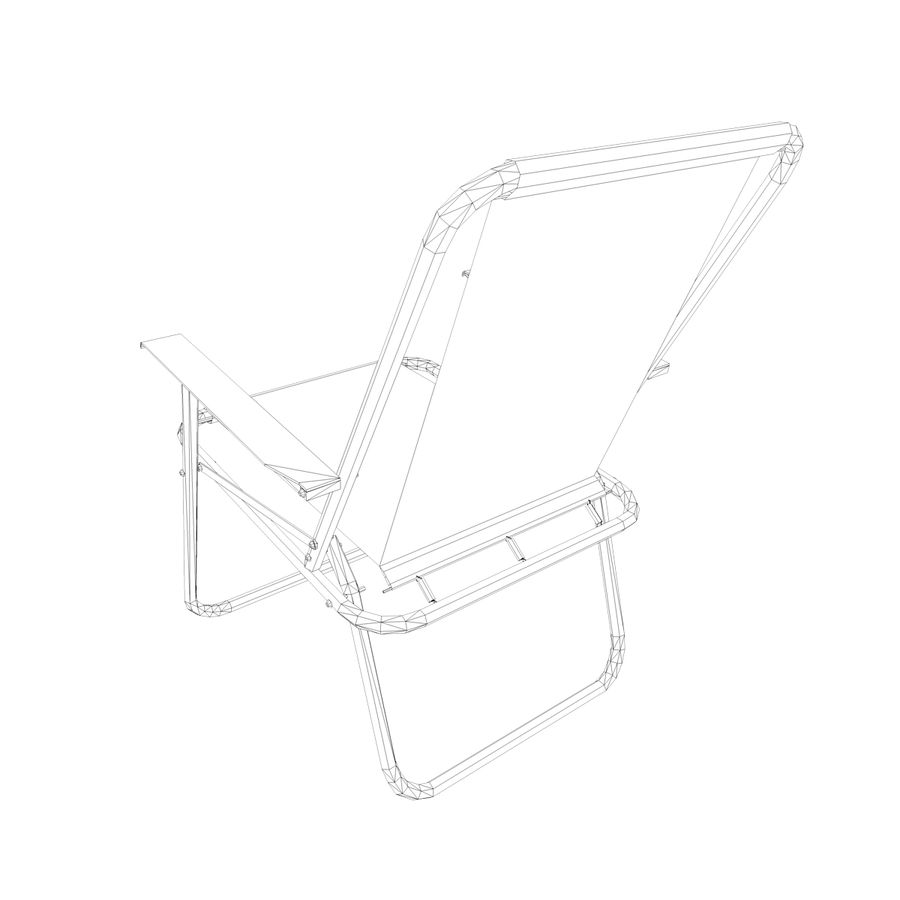 Camp Chair royalty-free 3d model - Preview no. 11