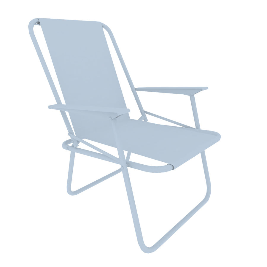 Camp Chair royalty-free 3d model - Preview no. 6
