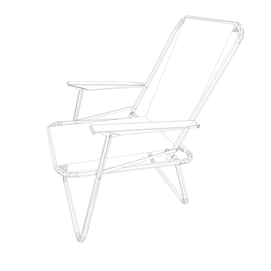 Camp Chair royalty-free 3d model - Preview no. 10