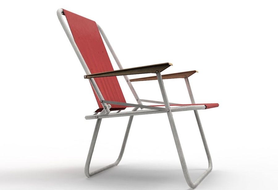 Camp Chair royalty-free 3d model - Preview no. 5