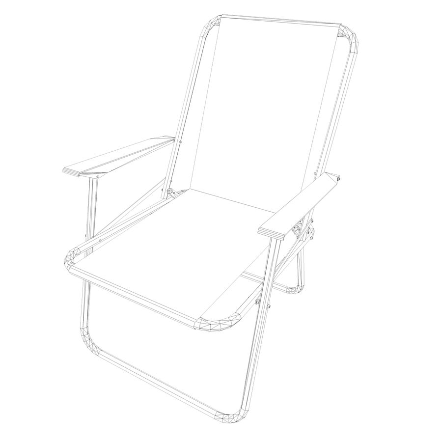 Camp Chair royalty-free 3d model - Preview no. 9