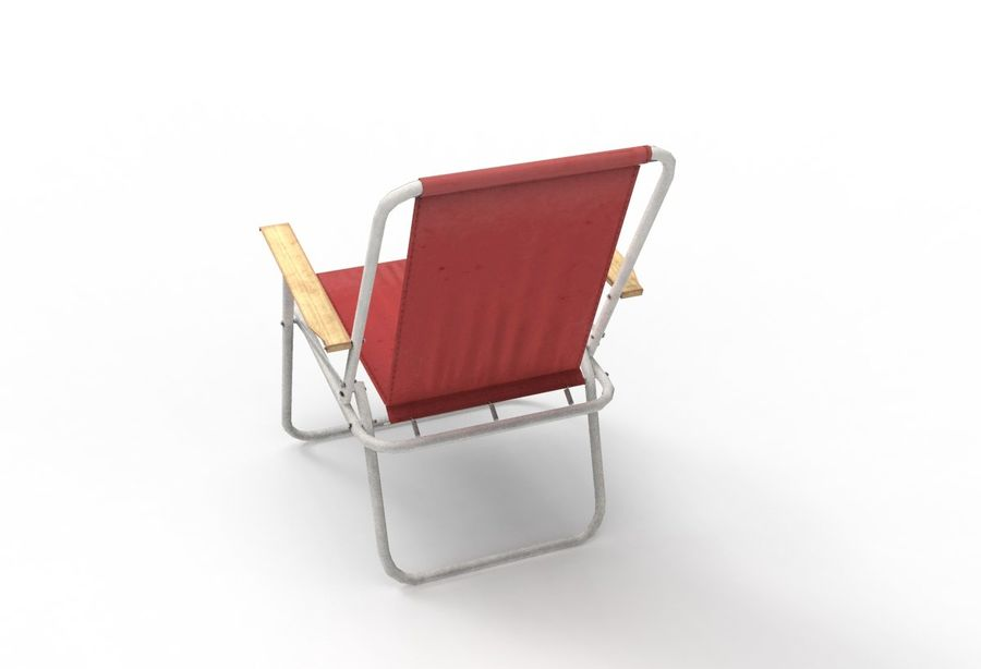 Camp Chair royalty-free 3d model - Preview no. 4