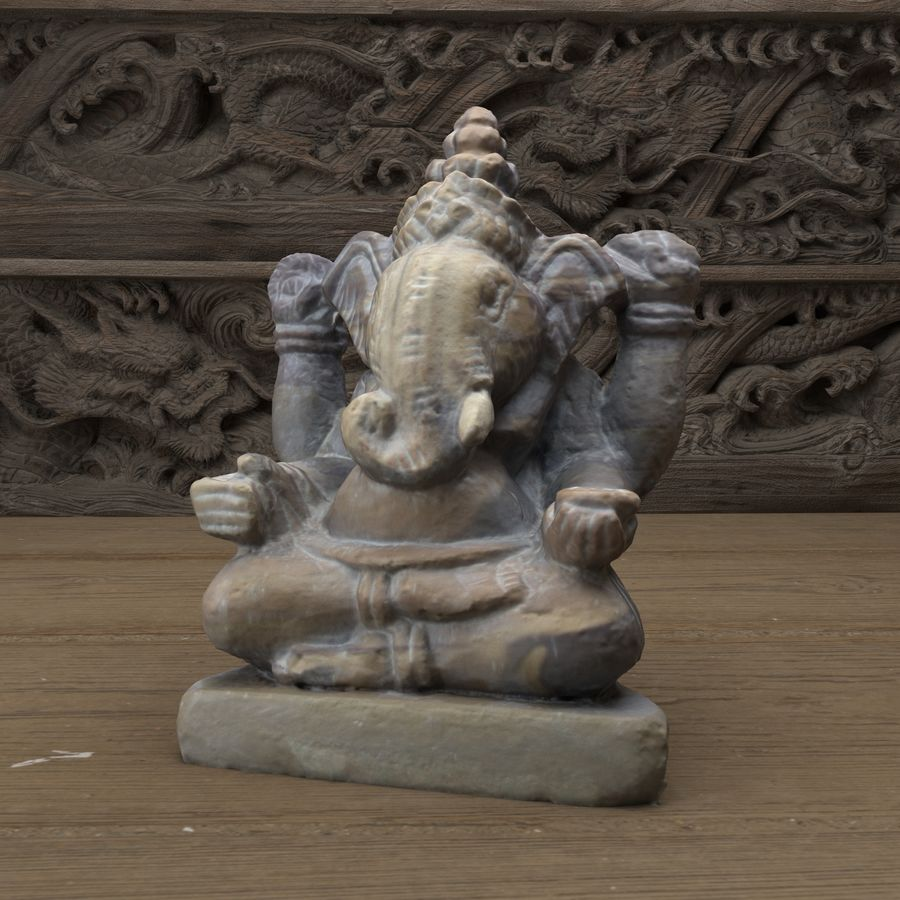Ganesh royalty-free 3d model - Preview no. 8