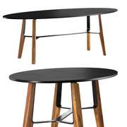 Liu CT 타원형 커피 용 탁자 3d model