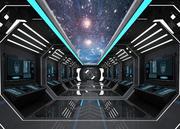 SCI FI INTERIOR SCENE SPACE SHIP Низкополигональная 3d model