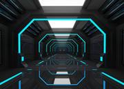 SCI FI INTERIOR SCENE RYMTSKAP Låg-poly 3D-modell 3d model
