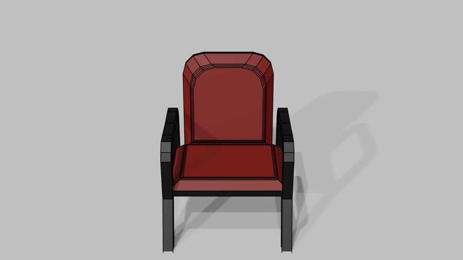 Офисная мебель royalty-free 3d model - Preview no. 11