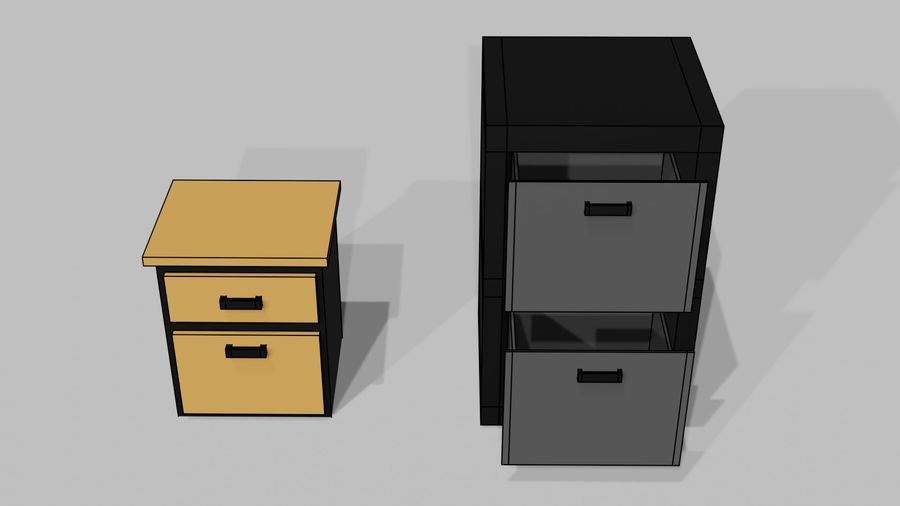 Офисная мебель royalty-free 3d model - Preview no. 12