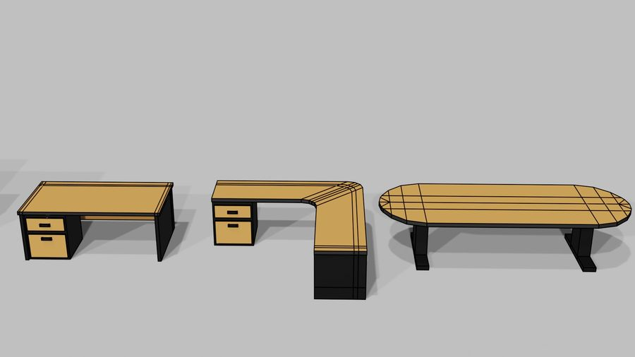 Офисная мебель royalty-free 3d model - Preview no. 9