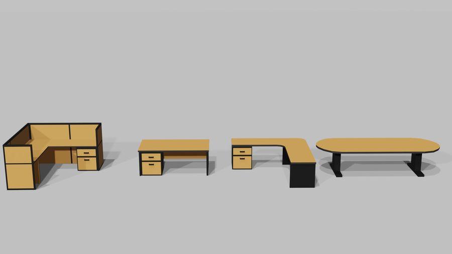 Офисная мебель royalty-free 3d model - Preview no. 4