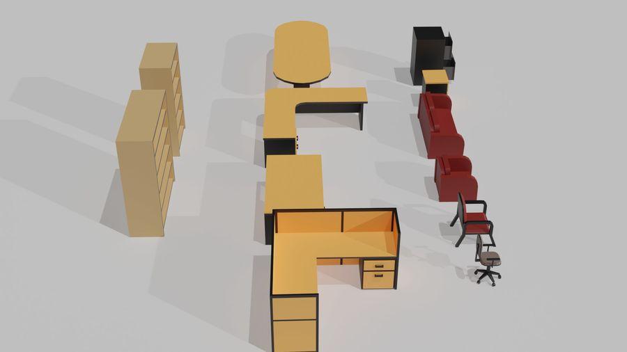 Офисная мебель royalty-free 3d model - Preview no. 2
