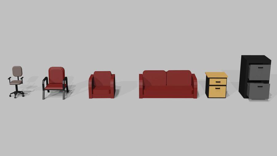 Офисная мебель royalty-free 3d model - Preview no. 5
