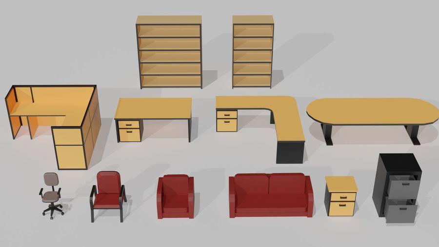 Офисная мебель royalty-free 3d model - Preview no. 1