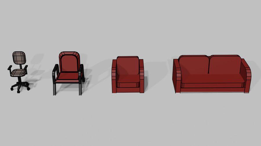 Офисная мебель royalty-free 3d model - Preview no. 10
